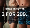 Boxershorts 3 for 299,-