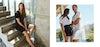 women in linnen shirt and linnen dress