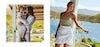 women in linnen clothes