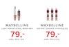 maybelline lash sensational mascara 79,- maybelline instant eraser concealer 79,-