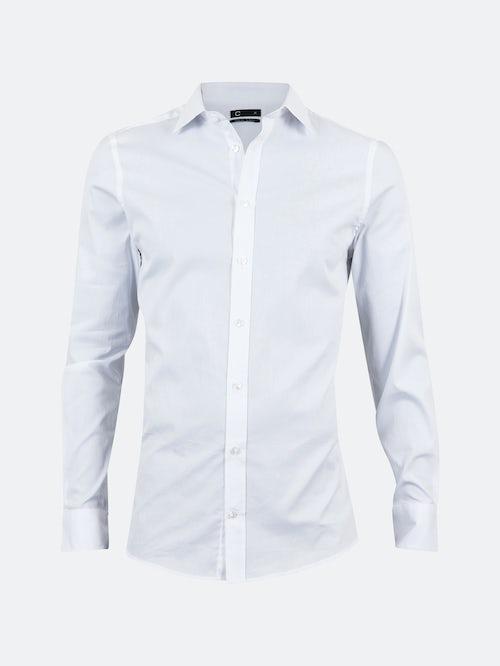 CUBUS Dan slim fit skjorte - Hvit S